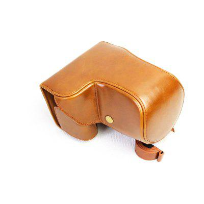 PU Leather Camera Case for Sony ILCE-6500 A6500 16-70 or 18-55 lens