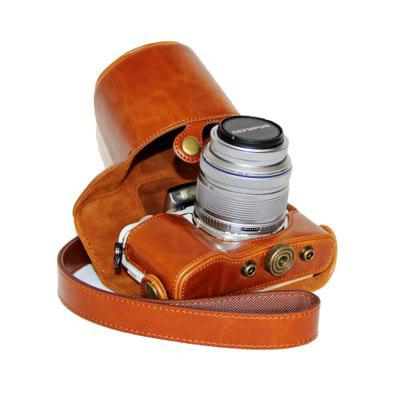 PU Leather Camera Case Bag for Olympus E-PL8 epl7 14-42 lens