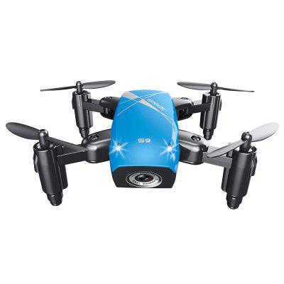 Cloudrover S9HW Foldable Transformable RC Mini Drone with HD Camera Altitude Hold Toys for Children as Christmas GiftRC Quadcopters<br>Cloudrover S9HW Foldable Transformable RC Mini Drone with HD Camera Altitude Hold Toys for Children as Christmas Gift<br><br>Battery: Model battery: built-in 3.7V 220mAh LiPo; Remote control battery:4 x AAA battery (not include)<br>Battery Size: 1x1x1<br>Battery Weight: 0.01<br>Camera Pixels: 0.3mp<br>Channel: 4-Channels<br>Charging Time.: 30min<br>Compatible with Additional Gimbal: No<br>Control Distance: 50-100m<br>Flying Time: 8~10mins<br>FPV Distance: 100m<br>Functions: Forward/backward, Up/down, Turn left/right<br>Level: Advanced Level<br>Package Contents: 1 x Drone, 1 x Transmitter, 1 x Charging Line, 4 x Propeller, 1 x Screwdriver, 1 x Manual(English)<br>Package size (L x W x H): 18.00 x 16.00 x 6.50 cm / 7.09 x 6.3 x 2.56 inches<br>Package weight: 0.2000 kg<br>Product size (L x W x H): 9.00 x 7.00 x 3.00 cm / 3.54 x 2.76 x 1.18 inches<br>Product weight: 0.0100 kg<br>Radio Mode: Mode 1 (Right-hand Throttle)<br>Remote Control: 2.4GHz Wireless Remote Control<br>Type: Quadcopter