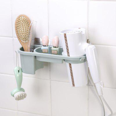 Hair Dryer Rack Non-Trace Blower Receive Bathroom Toilet Sucker Punched Shelf Free pet hair dryer blower sale 2400w variable speed quickly drying ru shipping
