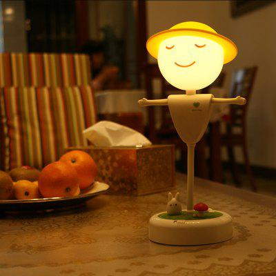 Mini LED Night Light Scarecrow Shape Touch Induction for Student Gift
