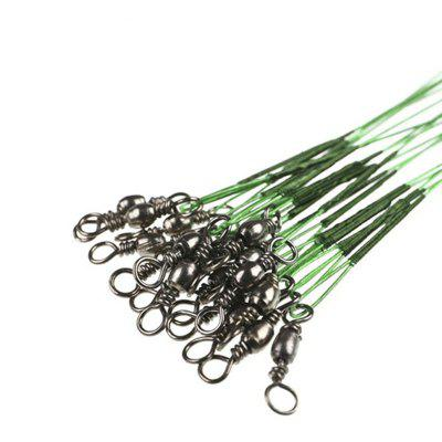Fishing Lead Line Leader Wire Stainless Steel Rolling SwivelsFishing Lines<br>Fishing Lead Line Leader Wire Stainless Steel Rolling Swivels<br><br>Length (m): 15cm 20cm 25cm 30cm<br>Package Contents: 10 x Before Fishing Wire<br>Package size (L x W x H): 21.00 x 6.00 x 1.00 cm / 8.27 x 2.36 x 0.39 inches<br>Package weight: 0.0120 kg<br>Product size (L x W x H): 20.00 x 0.50 x 0.05 cm / 7.87 x 0.2 x 0.02 inches<br>Product weight: 0.0110 kg