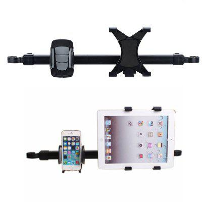 Car Rear Pillow Stand Phone Tablet Holder Adjustable Bracket