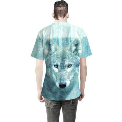 Wolf Pattern Digital Printing Short-Sleeved T-ShirtMens Short Sleeve Tees<br>Wolf Pattern Digital Printing Short-Sleeved T-Shirt<br><br>Collar: Round Neck<br>Material: Cotton<br>Package Contents: 1 x T-shirt<br>Pattern Type: Animal<br>Sleeve Length: Short Sleeves<br>Style: Fashion<br>Weight: 0.3000kg