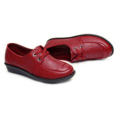 Women Soft Leather Flat Casual Shoes от GearBest.com INT