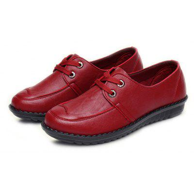Women Soft Leather Flat Casual ShoesWomens Flats<br>Women Soft Leather Flat Casual Shoes<br><br>Available Size: 35 - 41<br>Closure Type: Lace-Up<br>Embellishment: None<br>Gender: For Women<br>Outsole Material: Rubber<br>Package Contents: 1 x Shoes (pair)<br>Pattern Type: Solid<br>Season: Summer, Spring/Fall<br>Toe Shape: Round Toe<br>Toe Style: Closed Toe<br>Upper Material: Microfiber<br>Weight: 1.0080kg