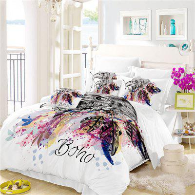 Bohemia 3D Series of Eagle Feathery Bedding Three Pieces and Four Pieces of AS30