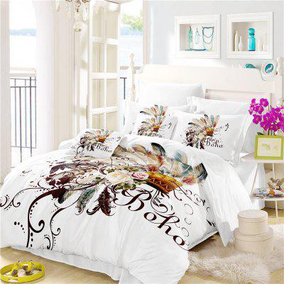 Bohemia 3D Series Petal Feathery Bedding Three Piece Four Piece Set AS31