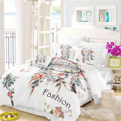 Bohemia 3D series Necklace three piece feather bedding set of four AS33