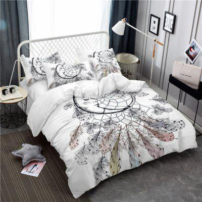 Bohemia 3D Series Necklace Three Piece Feather Bedding Set of Four AS34Bedding Sets<br>Bohemia 3D Series Necklace Three Piece Feather Bedding Set of Four AS34<br><br>Category: Bedding Set<br>For: All<br>Functions: Multi-functions<br>Material: Cotton, Polyester<br>Occasion: School, Bedroom<br>Package Contents: 1 x Duver Cover,2 x Pillowcases,1 x Bed Sheet or 1 x Duver Cover,2 x Pillowcases,<br>Package size (L x W x H): 24.00 x 20.00 x 5.00 cm / 9.45 x 7.87 x 1.97 inches<br>Package weight: 1.5000 kg