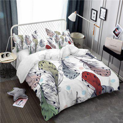 Bohemia 3D Series of Colorful Feather Bedding Three Piece Four Piece AS35