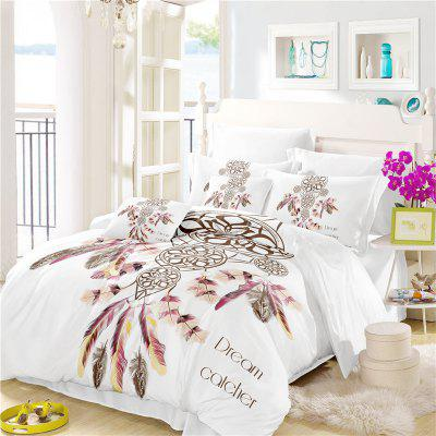 Bohemia 3D Series Necklace Three Piece Feather Bedding Set of Four AS37