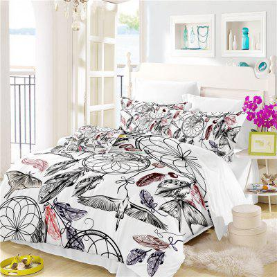 Bohemia 3D Series Mountain Painting Three Piece Bedding Crane Four Sets AS38