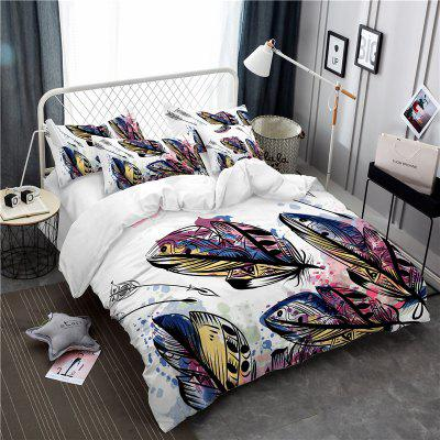 Bohemia 3D Series of Mountain Water Ink Painting Fish Bedding Three Pieces Four Pieces Set AS39 Irving for all