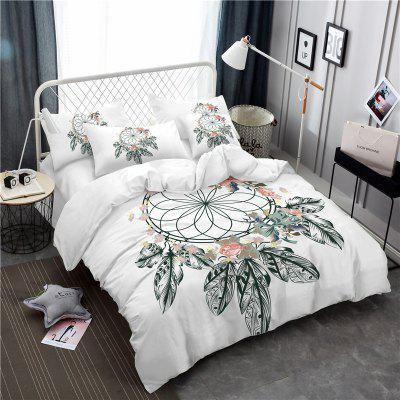 Bohemia 3D series painting flower necklace bedding three piece four piece AS41