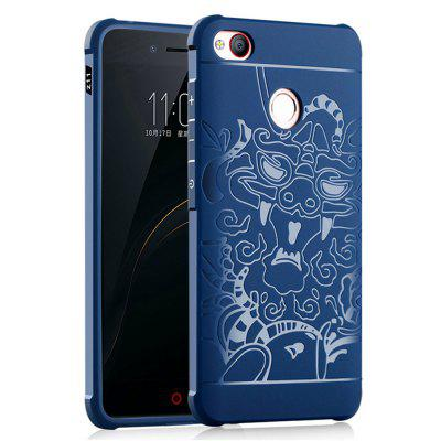 Shockproof Soft Silicone Cover for Nubia Z11 Case Dragon Pattern Fashion Full Protective Phone Case