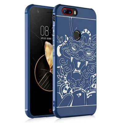 Shockproof Soft Silicone Cover for Nubia Z17 Case Dragon Pattern Fashion Full Protective Phone Case