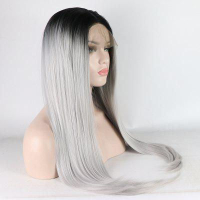 Long Straight Silver Black Root Heat Resistant Synthetic Hair Lace Front Wigs for WomenHuman Hair Wigs<br>Long Straight Silver Black Root Heat Resistant Synthetic Hair Lace Front Wigs for Women<br><br>Can Be Permed: Yes<br>Color Type: Ombre<br>Density Type: 130%<br>Hairstyling: Silky Straight<br>Lace Color: Other<br>Lace Size: Other<br>Lace Type: Other<br>Made Method: Half Machine Made &amp; Half Hand Tied<br>Package Contents: 1 x Synthetic Hair Lace Front Wig<br>Package size (L x W x H): 26.00 x 17.00 x 5.00 cm / 10.24 x 6.69 x 1.97 inches<br>Package weight: 0.3000 kg<br>Part Design: Free Part<br>Quality: Vigin Hair<br>Suitable Dying Colors: Darker Color Only