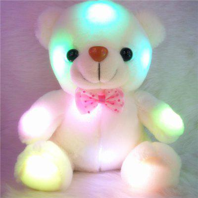 Glowing Bear Style with Tie Plush Toy Inductive Luminous Doll