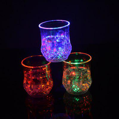 Water Sense Pineapple  Drinking Cup Colorful Light Glass LED  Bar Party Creative Gifts sense and sensibility