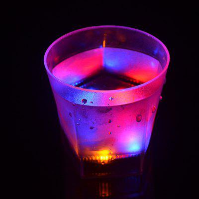 7 Color Flash  LED Light Beer Glass  Creative Water Sensor Grinding Drink Cup
