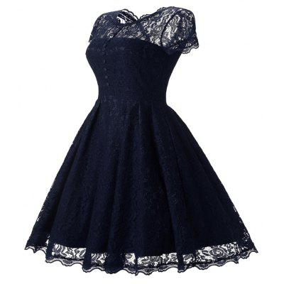 Womens Short Sleeve Vintage Rockabilly Lace Party DressWomens Dresses<br>Womens Short Sleeve Vintage Rockabilly Lace Party Dress<br><br>Dresses Length: Mid-Calf<br>Elasticity: Elastic<br>Embellishment: Lace<br>Fabric Type: Dobby<br>Material: Polyester, Spandex<br>Neckline: V-Neck<br>Package Contents: 1 x Dress<br>Pattern Type: Floral<br>Season: Fall, Spring<br>Silhouette: A-Line<br>Sleeve Length: Short Sleeves<br>Style: Vintage<br>Waist: Natural<br>Weight: 0.3500kg<br>With Belt: No