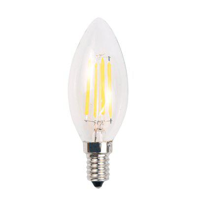 10PCS 4W LED 220V Filament Candle Light Bulb 3000K 6000K E14Candle Bulbs<br>10PCS 4W LED 220V Filament Candle Light Bulb 3000K 6000K E14<br><br>Certifications: 3C<br>Color Temperature or Wavelength: white 6000-6500k,warm white 2700-3200k<br>Connection: E14<br>Connector Type: E14<br>Dimmable: No<br>Initial Lumens ( lm ): 22-24<br>LED Beam Angle: 270 Degree<br>Lifetime ( h ): More Than  30000<br>Light Source Color: White,Warm White<br>Material: Glass, Aluminum Alloy<br>Package Contents: 10 x Bulb<br>Package size (L x W x H): 15.00 x 10.00 x 10.00 cm / 5.91 x 3.94 x 3.94 inches<br>Package weight: 0.5000 kg<br>Power Supply: AC Powered<br>Primary Application: Living Room,Bedroom,Home Decoration,Home or Office,Children Room,Living Room or Dining Room,Hallway or Stairwell,Storage Room or Utility Room,Residential<br>Product size (L x W x H): 5.00 x 5.00 x 10.00 cm / 1.97 x 1.97 x 3.94 inches<br>Product weight: 0.0500 kg<br>Production Mode: Self-produce<br>Type: LED Candle Lights<br>Voltage: 220V<br>Wattage: 4W