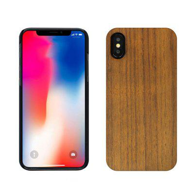 Phone Shell for iPhone X Rose Walnut Piece Combo Paste PC Wood Protective Cover baseus tpu pc combo travel suitcase style phone cover for iphone 7 plus tarnish
