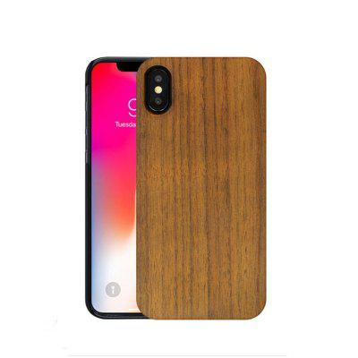 Phone Shell for iPhone X Rose Walnut Piece Combo Paste PC Wood Protective Cover