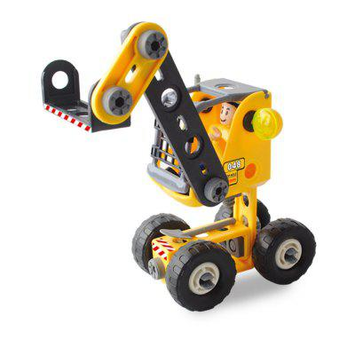 DIY 3 in 1 Education 3D Building Blocks Puzzle Kids Mechanical Engineering Construction Truck Technical Vehicle tqm in engineering education