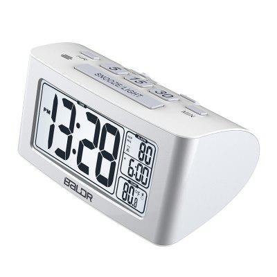 BALDR Napper Clock with Quick Set-up Digital LCD Temperature Display Snooze