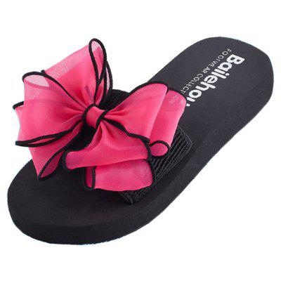 Women Casual Handmade Bowknot Non-Slip Beach SlippersSlippers &amp; Flip-Flops<br>Women Casual Handmade Bowknot Non-Slip Beach Slippers<br><br>Available Size: 35 - 40<br>Gender: For Women<br>Heel Type: Flat Heel<br>Outsole Material: Plastic<br>Package Contents: 1 x Slippers (pair)<br>Pattern Type: Others<br>Season: Summer<br>Slipper Type: Outdoor<br>Style: Fashion<br>Upper Material: Cotton Fabric<br>Weight: 0.8100kg