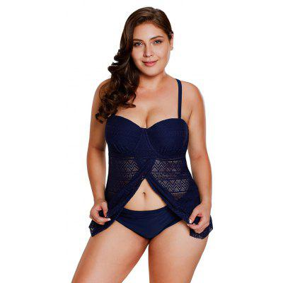 Lace Flyaway Underwired Tankini SetWomens Swimwear<br>Lace Flyaway Underwired Tankini Set<br><br>Bra Style: Push Up<br>Elasticity: Elastic<br>Gender: For Women<br>Material: Polyester<br>Package Contents: 1xTank Top,1xBriefs<br>Pattern Type: Solid<br>Support Type: Underwire<br>Swimwear Type: Tankini<br>Waist: Low Waisted<br>Weight: 0.3000kg<br>With Pad: Yes