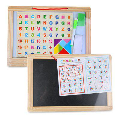 English Alphabet Wood Puzzle Writing Board
