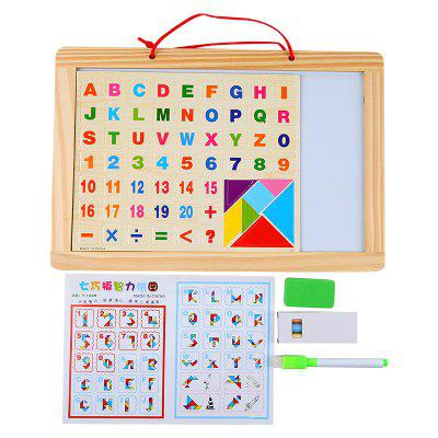English Alphabet Wood Puzzle Writing BoardLogic &amp; Puzzle Toys<br>English Alphabet Wood Puzzle Writing Board<br><br>Gender: Boys,Girls<br>Materials: Plastic, Wood<br>Package Contents: 1 x Jigsaw puzzle<br>Package size: 33.50 x 2.00 x 22.50 cm / 13.19 x 0.79 x 8.86 inches<br>Package weight: 0.4500 kg<br>Product weight: 0.4400 kg<br>Stem From: Other<br>Style: Geometric Shape, Other<br>Theme: Other<br>Type: Magnetic, Jigsaw Puzzle