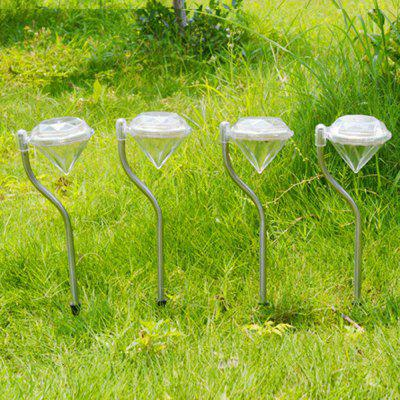 Outdoor LED Solar Powered Garden Path Stake Lanterns Lamps LED Diamonds Lawn Light