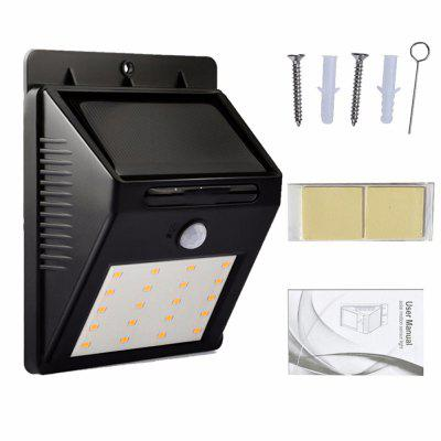 20LED Solar Lamp Waterproof PIR Motion Sensor Powered Light