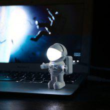 Mini Reading Lamp USB Tube for Computer Laptop PC Notebook Pure White Portable Spaceman Astronaut LED Night Light Adjust