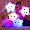 Glowing Pentagrams Pillow Plush Toy Inductive Luminous with LED Lights Doll for Kids - PURPLE