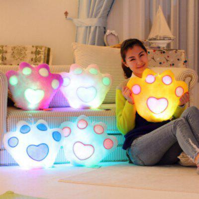 Glowing Bear Paw Style Pillow Plush Toy Inductive Luminous with LED Lights Doll for KidsStuffed Cartoon Toys<br>Glowing Bear Paw Style Pillow Plush Toy Inductive Luminous with LED Lights Doll for Kids<br><br>Features: Soft, Battery Operated, Stuffed and Plush<br>Materials: PP Cotton<br>Package Contents: 1 x Plush Toy<br>Package size: 32.00 x 44.00 x 12.00 cm / 12.6 x 17.32 x 4.72 inches<br>Package weight: 0.3000 kg<br>Product size: 30.00 x 42.00 x 10.00 cm / 11.81 x 16.54 x 3.94 inches<br>Series: Fashion<br>Theme: Leisure