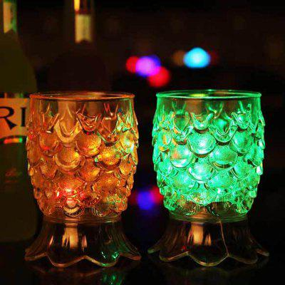 Creative Gifts High Footed Pineapple  Colorful Light Glass Sensory Water Cup