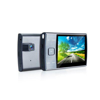 DVR209 Sucker Easy Dual Lens Rearview Car DVR HD 720P Nice Quality 3.5 Inch Screen