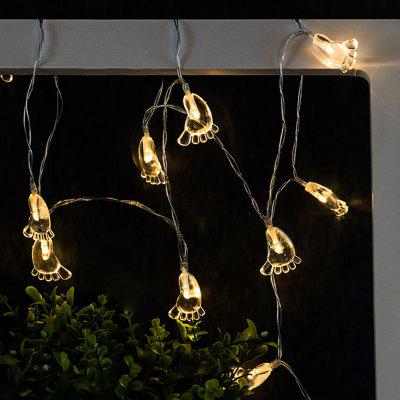 Transparent Foot String Lights LED Home Decor Light Home Garden Battery Powered 1.65M 10 LED