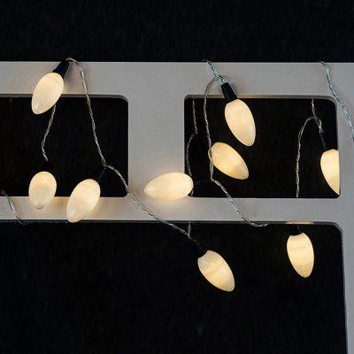 White candle String Lights LED Home Decor Light Home Garden Battery Powered 1.65M 10 LED