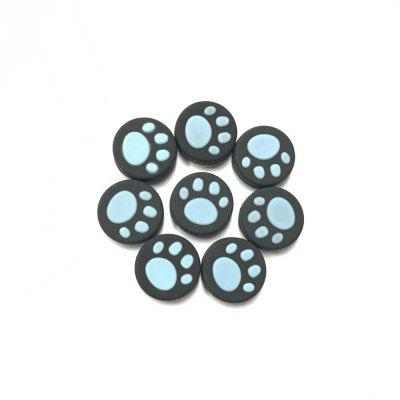 Silicone Cat's Paw Pattern Handle Cap Left and Right Rocker Protection Cap for Switch NX NS 8pcs/pack