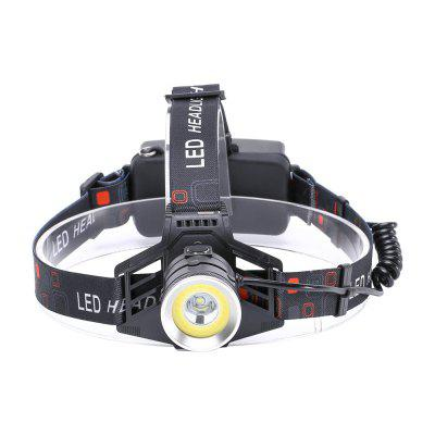UKing ZQ - X855 XML - T6 2000LM 4 Mode Light-weight Multifunction High Brightness Headlamp with Circle COB LEDHeadlights<br>UKing ZQ - X855 XML - T6 2000LM 4 Mode Light-weight Multifunction High Brightness Headlamp with Circle COB LED<br><br>Adjustable Focus: No<br>Available Light Color: White<br>Battery Included or Not: No<br>Battery Quantity: 2<br>Battery Type: 18650<br>Beam Distance: 100-200m<br>Body Material: Aluminium Alloy<br>Color: Black<br>Color Temperature: 6000-6500K<br>Emitters Quantity: 1<br>Feature: Rechargeable, Headlamp, Lightweight<br>Function: Night Riding, Camping, Fishing<br>Headlight Brand: UKing<br>Luminous Flux: 2000LM<br>Main Emitters: Other,XM-L T6<br>Mode: annular red strobe,  all on,  annular LED on, T6 on<br>Mode Memory: No<br>Package Contents: 1 x Headlamp, 1 x Micro USB Charge Cable, 1 x English Manual<br>Package size (L x W x H): 12.00 x 11.60 x 10.00 cm / 4.72 x 4.57 x 3.94 inches<br>Package weight: 0.2000 kg<br>Power Source: Battery<br>Product size (L x W x H): 25.00 x 18.00 x 11.00 cm / 9.84 x 7.09 x 4.33 inches<br>Product weight: 0.1670 kg<br>Rechargeable: Yes<br>Switch Location: Head<br>Switch Type: Clicky<br>Type: LED Headlamp