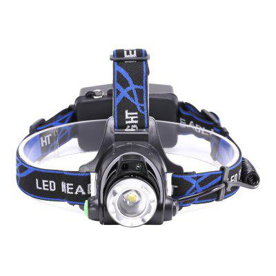 UKing ZQ-X864 XML-L2 1200LM 3 Mode Zoomable Multifunciton LED Headlamp with Smart Infrared Sensor SwitchHeadlights<br>UKing ZQ-X864 XML-L2 1200LM 3 Mode Zoomable Multifunciton LED Headlamp with Smart Infrared Sensor Switch<br><br>Adjustable Focus: Yes<br>Available Light Color: White<br>Battery Included or Not: No<br>Battery Quantity: 2<br>Battery Type: 18650<br>Beam Distance: 100-200m<br>Body Material: Aluminium Alloy, ABS<br>Color: Black<br>Color Temperature: 6000-6500K<br>Emitters Quantity: 1<br>Feature: Headlamp, Rechargeable, Lightweight<br>Function: Camping, Fishing, Hiking<br>Headlight Brand: UKing<br>Luminous Flux: 1200LM<br>Main Emitters: XM-L L2<br>Mode: strobe, high,  low<br>Mode Memory: No<br>Package Contents: 1 x Headlamp, 1 x Micro USB Charge Cable, 1 x English Manual<br>Package size (L x W x H): 12.00 x 11.60 x 10.00 cm / 4.72 x 4.57 x 3.94 inches<br>Package weight: 0.2100 kg<br>Power Source: Battery<br>Product size (L x W x H): 26.00 x 18.00 x 11.00 cm / 10.24 x 7.09 x 4.33 inches<br>Product weight: 0.1840 kg<br>Rechargeable: Yes<br>Switch Location: Head<br>Switch Type: Clicky<br>Type: LED Headlamp