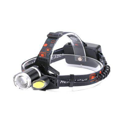 U'King ZQ-X856 XML-T6 2000LM 4 modos Multifunción Zoomable LED de alto brillo con 2 LED de COB blanco rojo