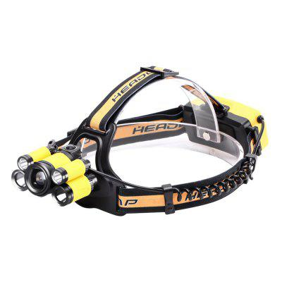 U`King 4000LM XML-T6 5-Mode 5 LEDs  Zoomable Multifunctional Head Lamp for Camping Hiking Fishing