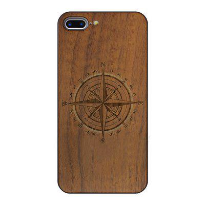 Walnut Phone Case for iPhone 8 Plus Vintage Engraved Illustration
